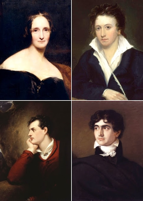 Mary e Percy Shelley, Byron, Polidori
