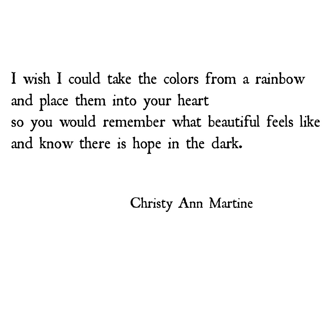 Christy Ann Martine A Poem About Loving Someone With Depression