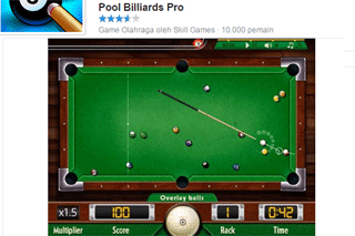 game billiard di facebook game populer