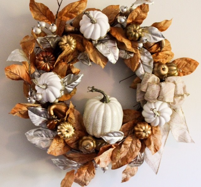 rustic glam fall wreath diy