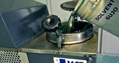 descarte de solventes