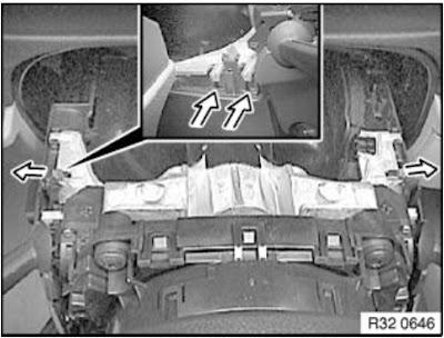 Remove lower steering shroud