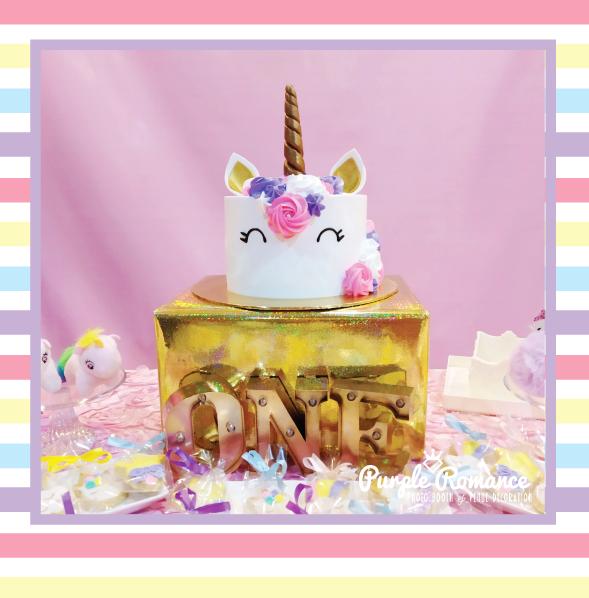unicorn cake malaysia, first birthday
