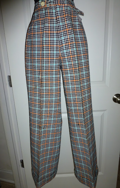 JC Penney plaid trousers