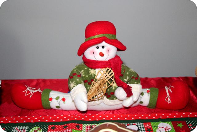 Decoração da Mesa : Festa de Natal : Boneco de Neve
