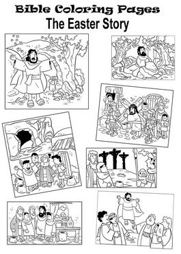 Mylittlehouseorg Coloring Pages The Easter Story