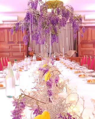 centrotavola matrimonio lavanda nat wedding planner