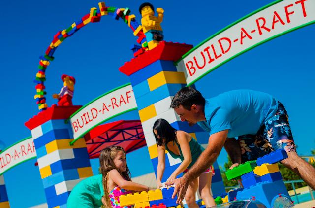 Build-A-Raft River en el parque acuático Legoland en Orlando