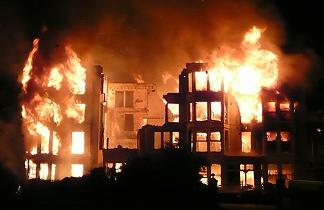 Image result for Confusion as fire guts Nigerian Senate