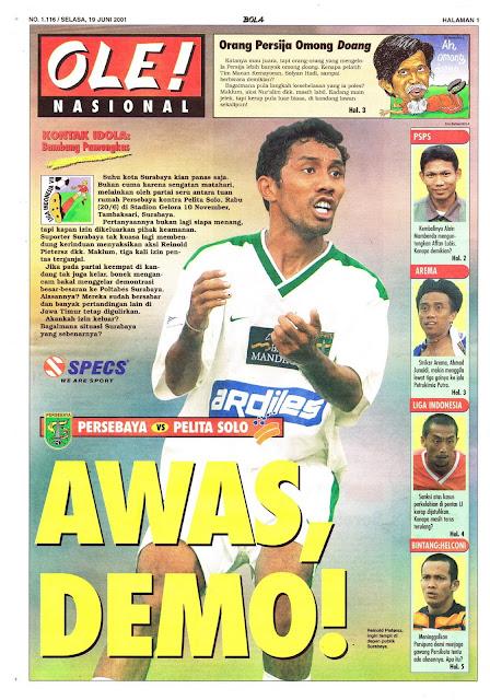 LIGA INDONESIA 2001 PERSEBAYA VS PELITA SOLO