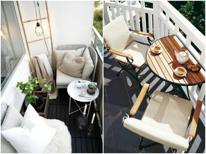 mini garden, outdoor spaces, courtyard, garden furniture, balcony