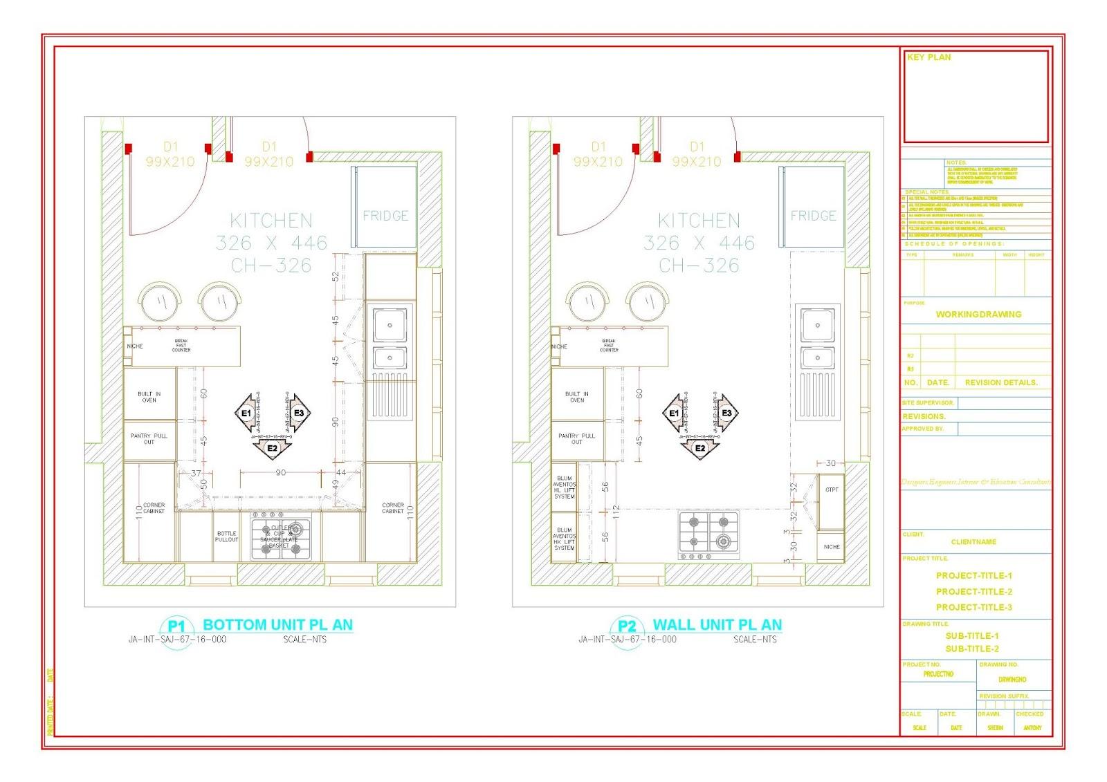Home Architec Ideas Kitchen Interior Design Autocad Drawings