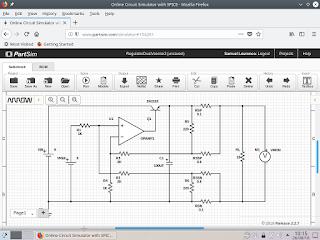 Circuito a ser simulado no simulador PartSim.