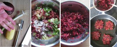Zubereitung Rote-Bete-Kartoffel-Puffer