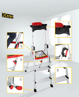 Ưu điểm của Thang nhôm ghế XSTEP XL 03 bậc rút chính hãng giá rẻ