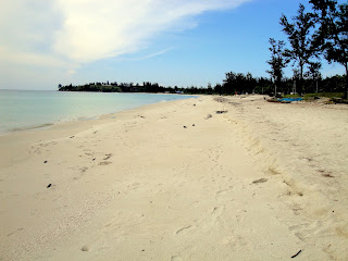 Empty beaches around the Tip of Borneo