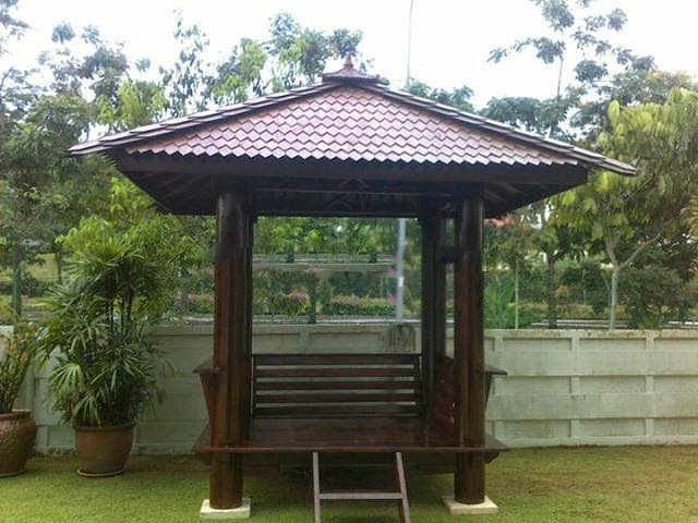 Jasa Pmebuatan Saung Kayu Kelapa | Pembuatan Suang Bambu | Saung Gazebo Minimalis | Jasa Tukang Taman