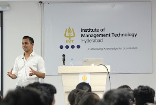 Health & Wellness start up Zoojoo.BE was incubated at IIM Bangalore - Avinash Saurabh to IMT Hyderabad students