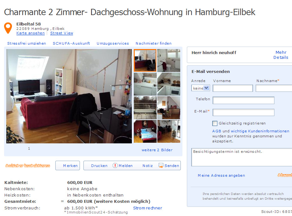 Zimmer Wohnung Hamburg Eilbek