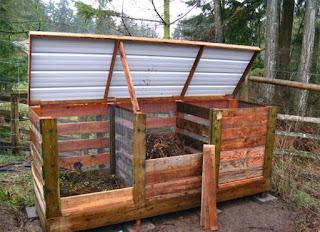 reutilizar palet de madera para compostera