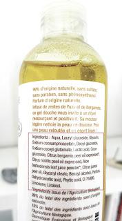 Liste INCI du gel douche bio Zeste de Yuzu Aromazone