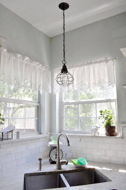 Farmhouse, Industirial, Light Fixture, Aqua