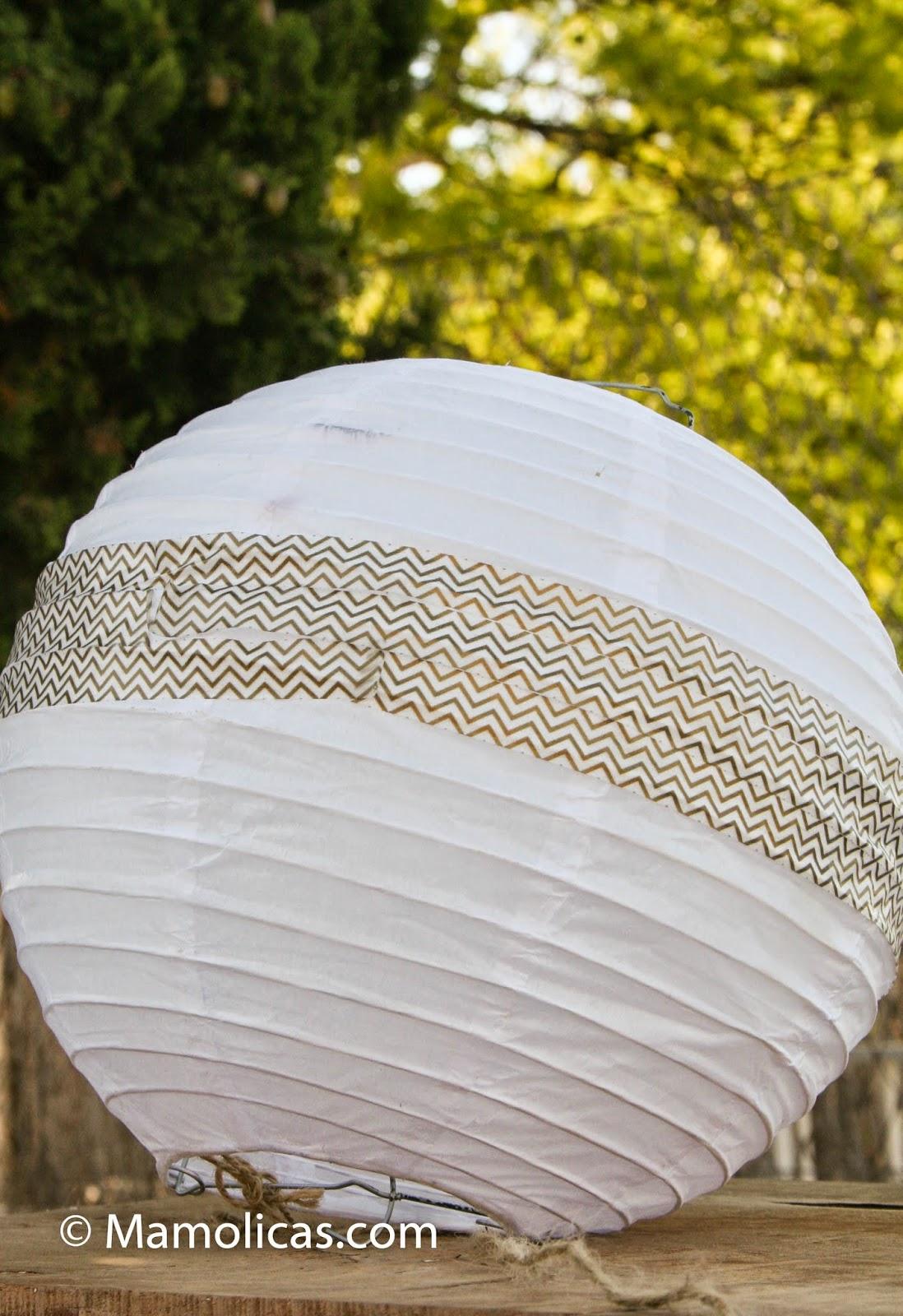 Mamolicas decoraci n 50 cumplea os farolillos de papel for Farolillos de decoracion