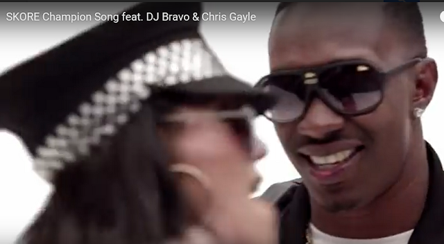 Skore Champion Song ft. DJ Bravo & Chris Gayle premieres on YouTube