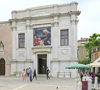 The entrance to the Galleria dell'Accademia in Campo della Carità in the Dorsoduro district of Venice