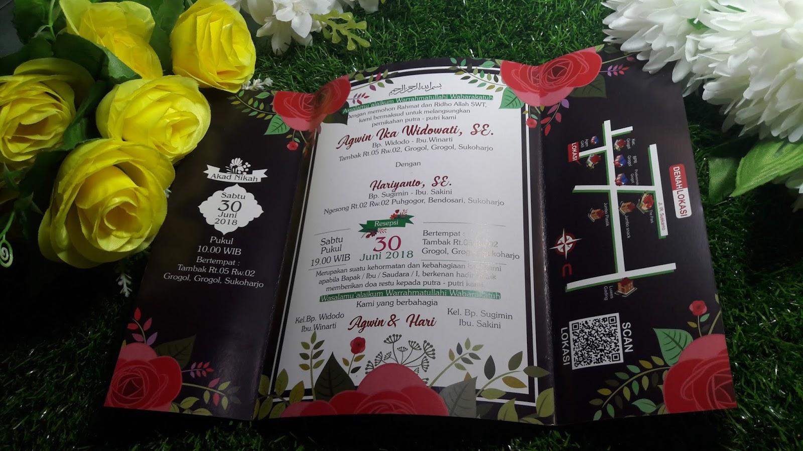 Pusat Undangan Dan Aneka Percetakan Pernikahan  Jakarta A 02 Sidoarjo