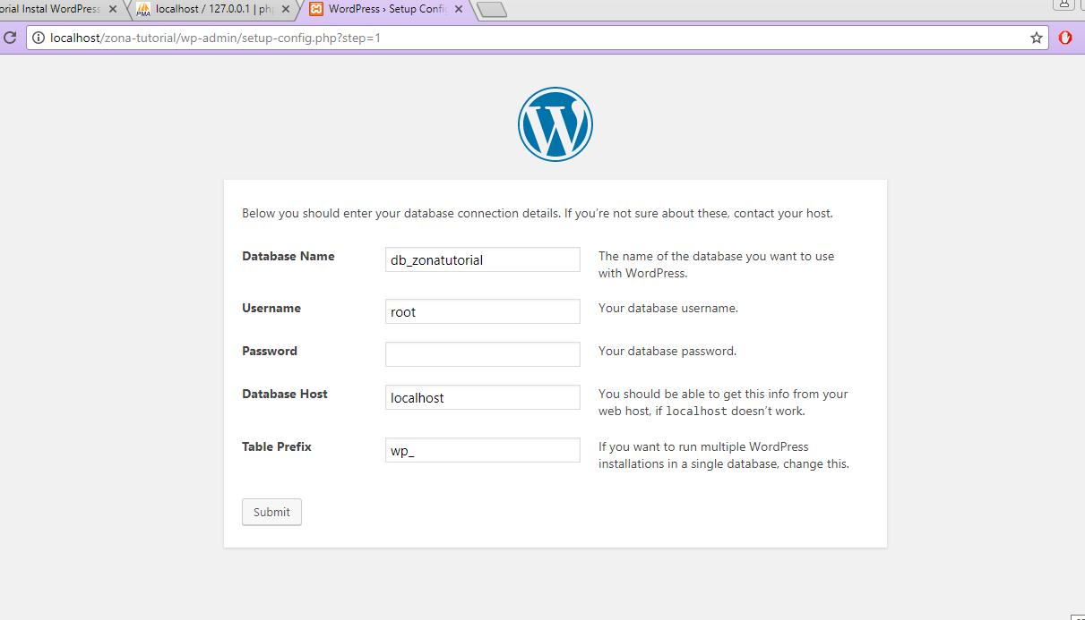 Tutorial Install WordPress CMS di Localhost XAMPP Website -