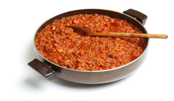 Carne molida en salsa