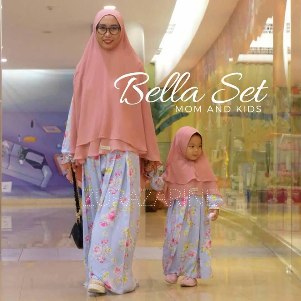 Jual Busana Muslim BELLA MOM AND KID GAMIS SET By