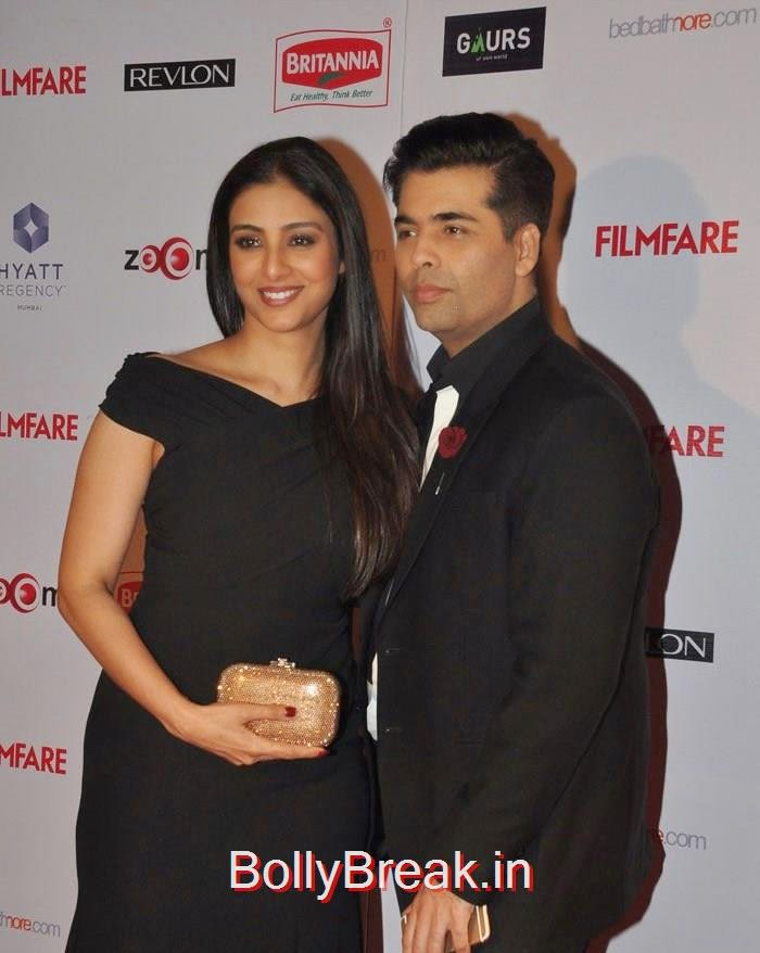 Tabu, Karan Johar, 60th Britannia Filmfare Awards pre-awards Party 2015 Red Carpet Pics