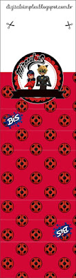 Miraculous Ladybug Free Printable Gum or Nuggets Wrappers.