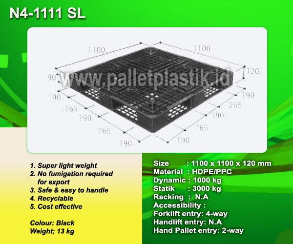 Jual pallet One way series N4-1111 SL