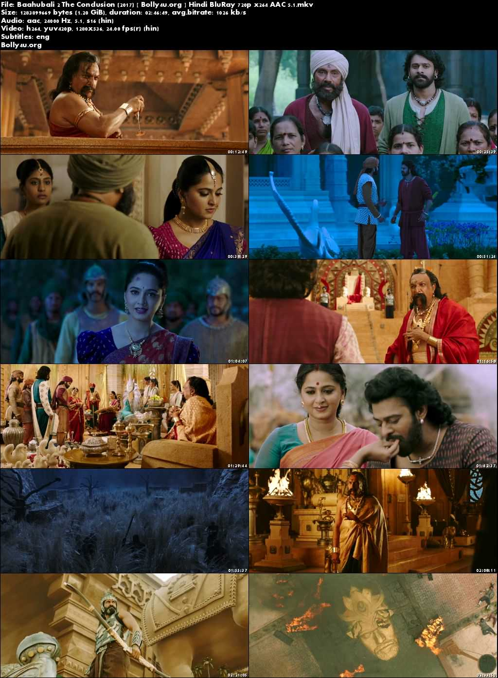 Bahubali 2 The Conclusion 2017 BluRay Hindi Movie 720p x264 AAC 5.1 Download