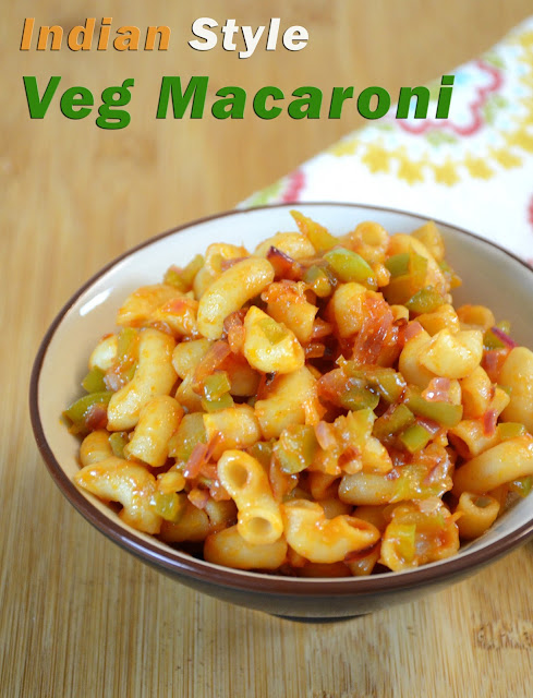 veg macaroni / Indian style macaroni / mac and cheese by veggie recipe house