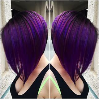 Fantastic Black Amp Purple Hairstyles A Gorgeous Combination Short Hairstyles Gunalazisus