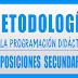 METODOLOGÍA PROGRAMACIÓN OPOSICIONES SECUNDARIA