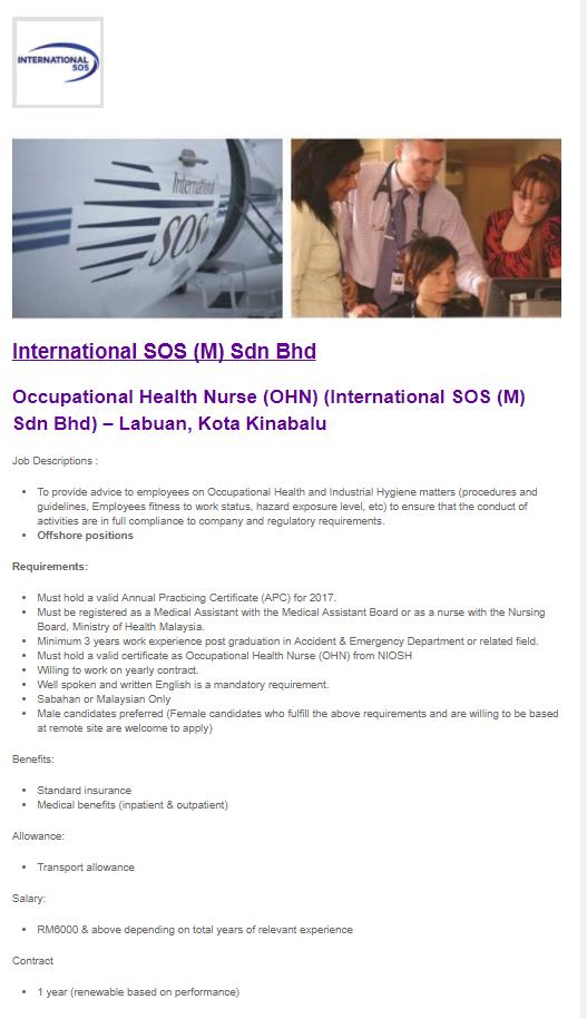 Oil Gas Vacancies Occupational Health Nurse Ohn International