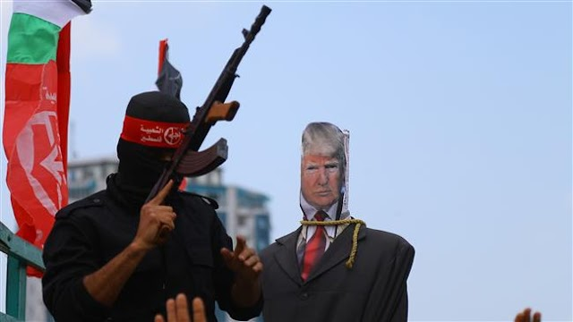 Thousands of Gazans protest US President Donald Trump visit to occupied territories