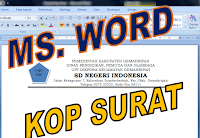 membuat kop surat dengan table ms word