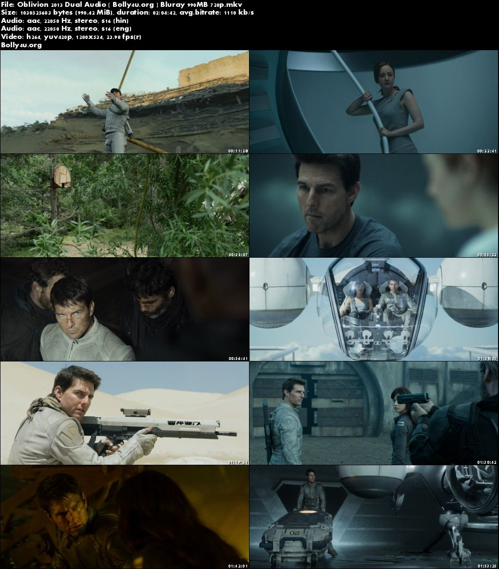 Oblivion 2013 BluRay 400Mb Hindi Dual Audio 480p Download
