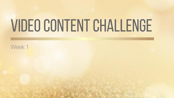 Video Content Challenge Week 1
