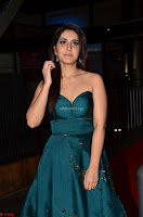 Raashi Khanna in Dark Green Sleeveless Strapless Deep neck Gown at 64th Jio Filmfare Awards South ~  Exclusive 052.JPG
