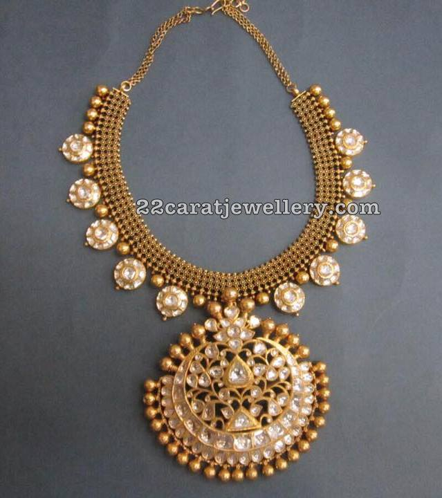 Bottu Mala with Kundan Pendant