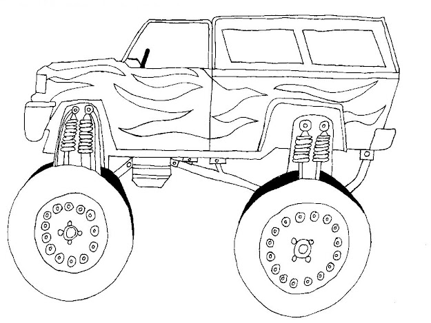 Car Coloring Sheets