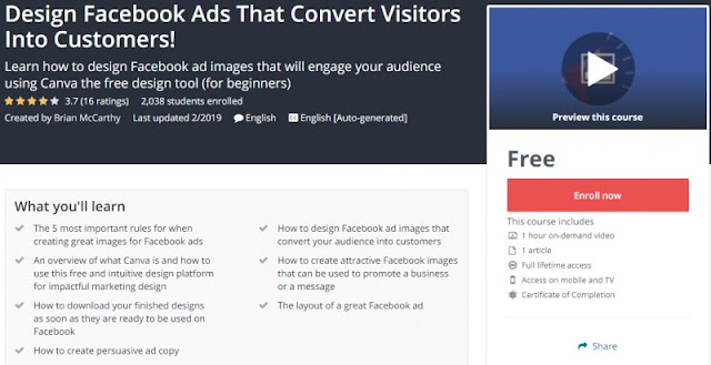 [100% Free] Design Facebook Ads That Convert Visitors Into Customers!