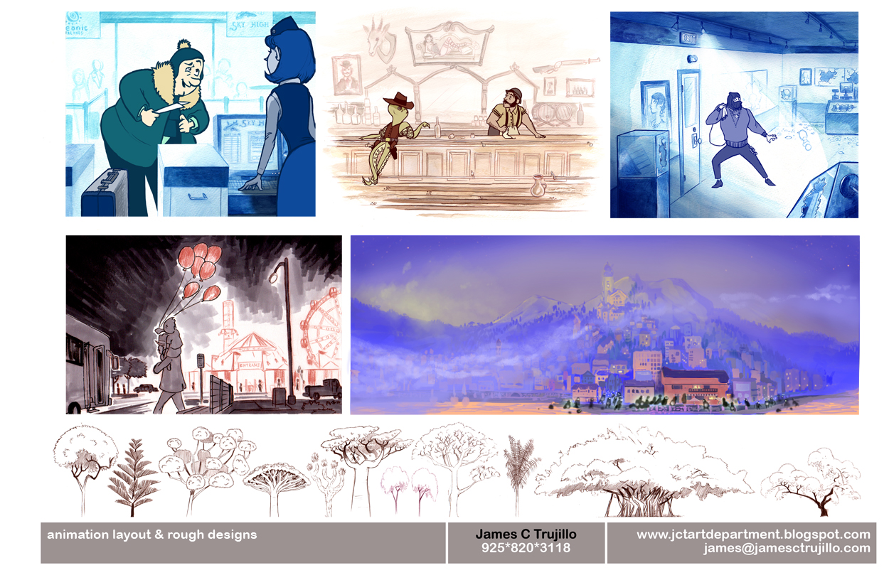 Illustration Updates Visual Development Portfolio